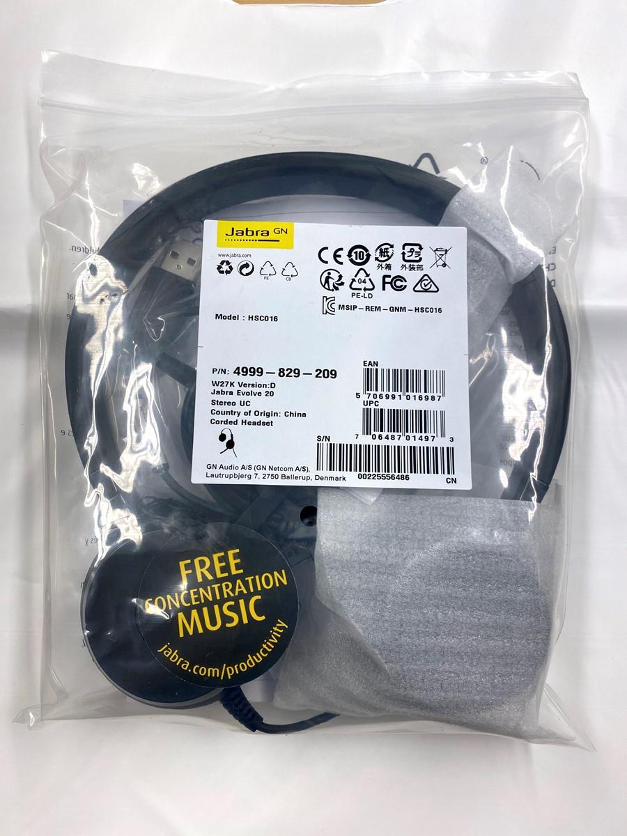 Jabra headset in packaging