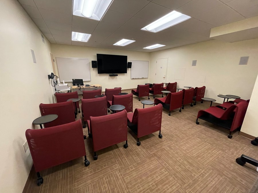 Screening Room. A view from the class towards the instructor desk.