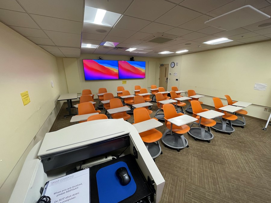 Telepresence Room. A view from the instructor to the class.